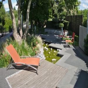 gegliederte Terrasse