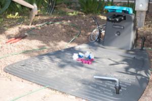 Bodenplatte-Ladestation