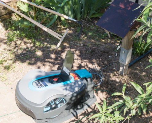 Rasenroboter-Installation